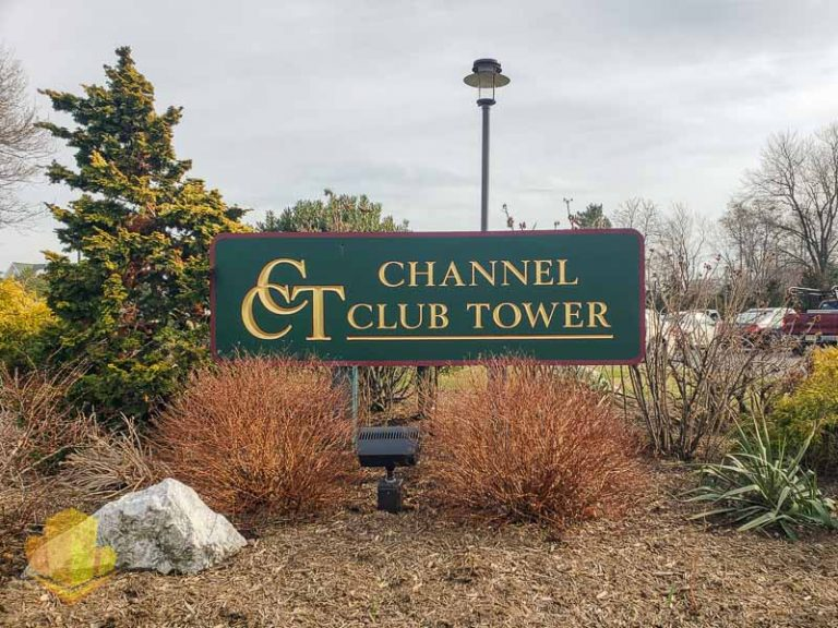Channel Club Tower Sign