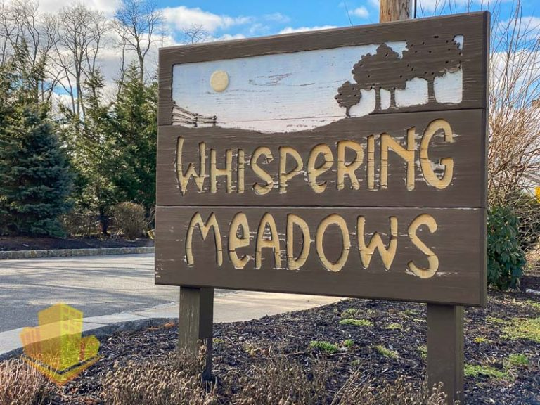 Whispering Meadows Entrance Sign