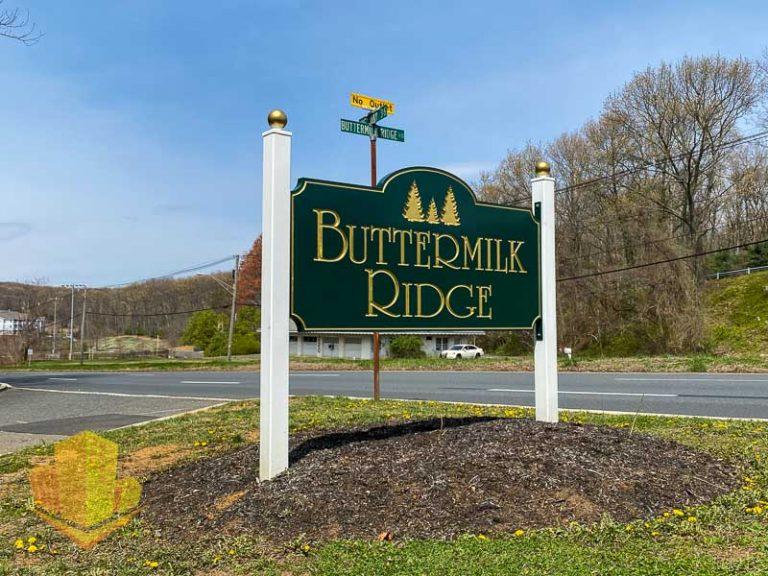 Buttermilk Ridge Entrance Sign