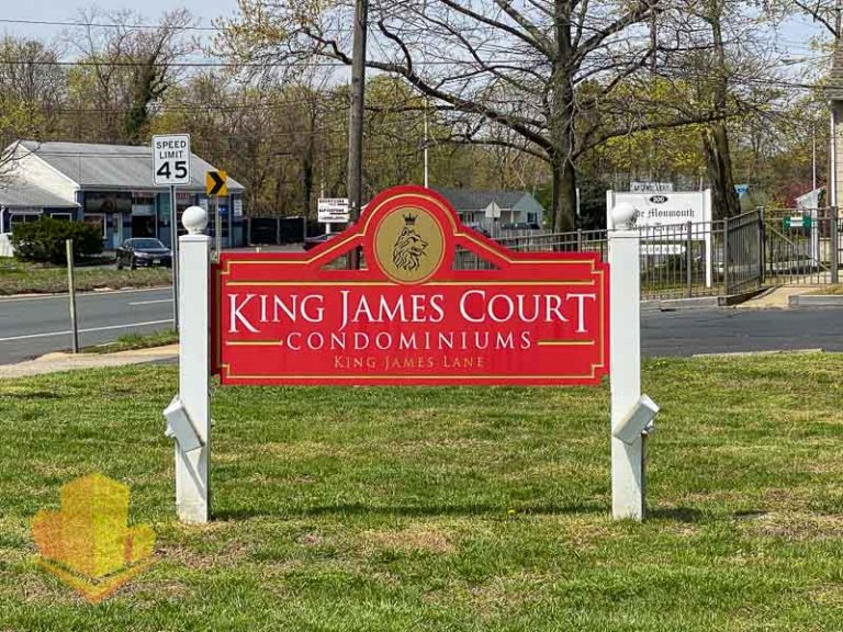 King James Court Sign