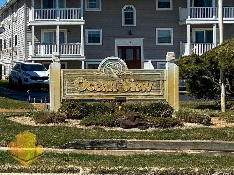 Ocean View Condos Sign