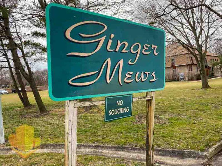 Ginger Mews Entrance Sign