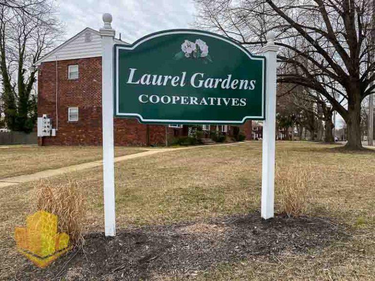 Laurel Gardens Cooperative Sign