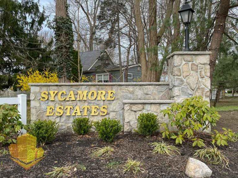 Sycamore Estates Entrance Sign