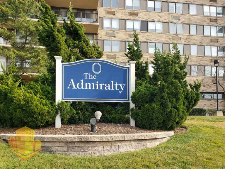 The Admiralty Entrance Sign