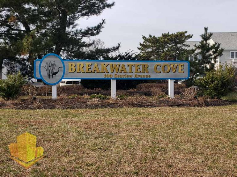 Breakwater Cove Entrance Sign