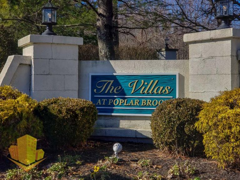 The Villas at Poplar Brook Entrance Sign