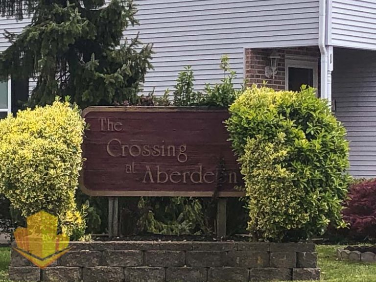 The Crossing at Aberdeen Entrance Sign
