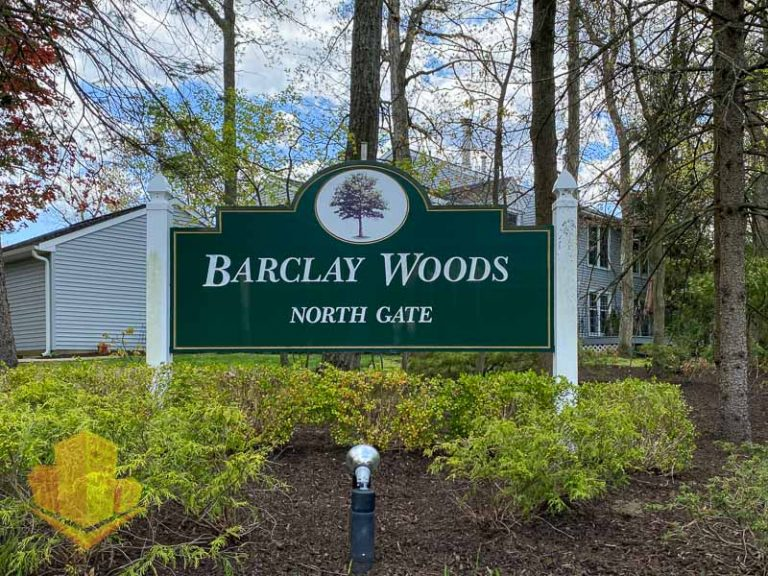 Barclay Woods Entrance Sign