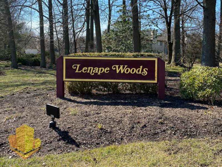 Lenape Woods Entrance Sign
