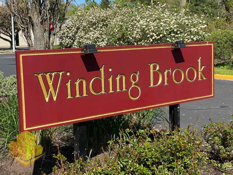 Winding Brook Entrance Sign