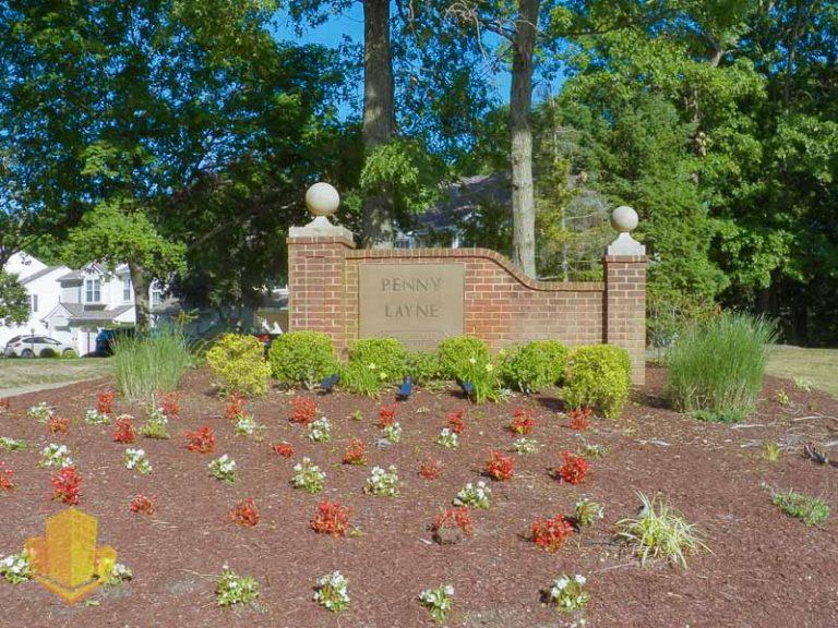 Penny Layne Entrance Sign
