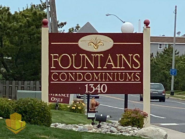 Fountains Entrance Sign