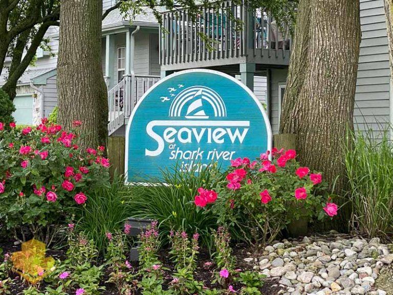 Seaview at Shark River Island Sign