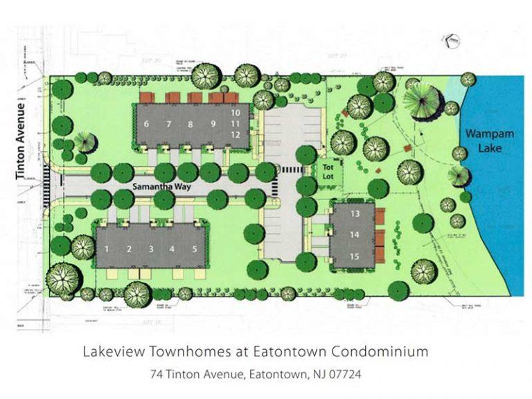 Site plan rendering Lakeview - Eatontown, NJ