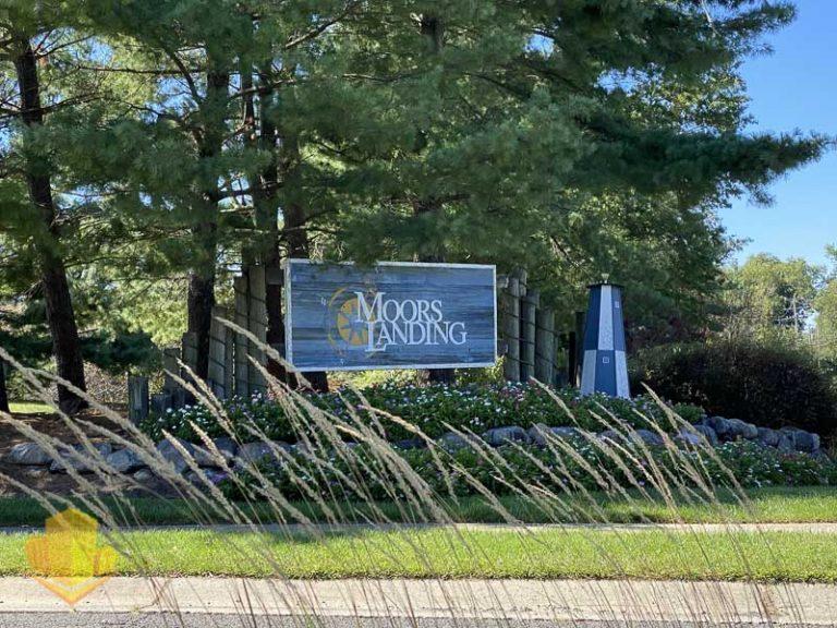 Moors Landing Entrance Sign