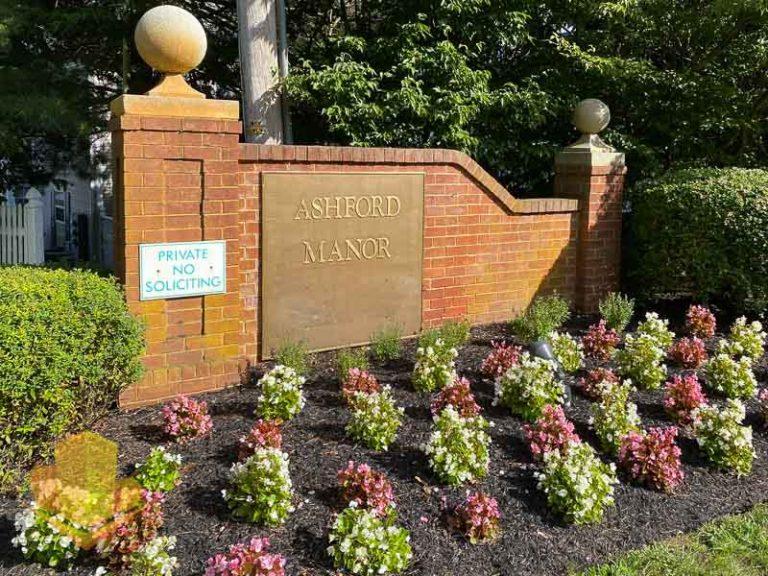 Ashford Manor Entrance Sign