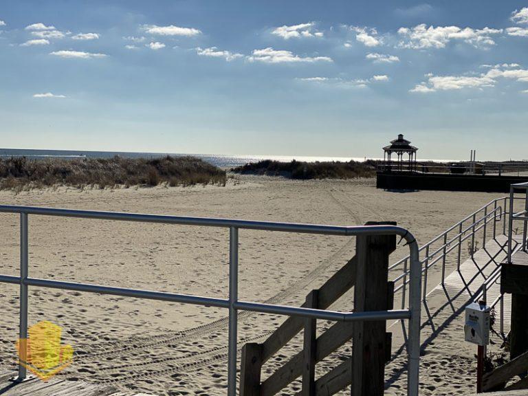 Beach across from Sea Gardens Condos